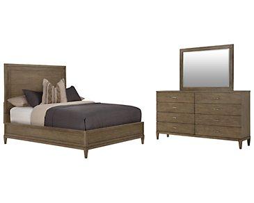 Preston Gray Wood Platform Bedroom