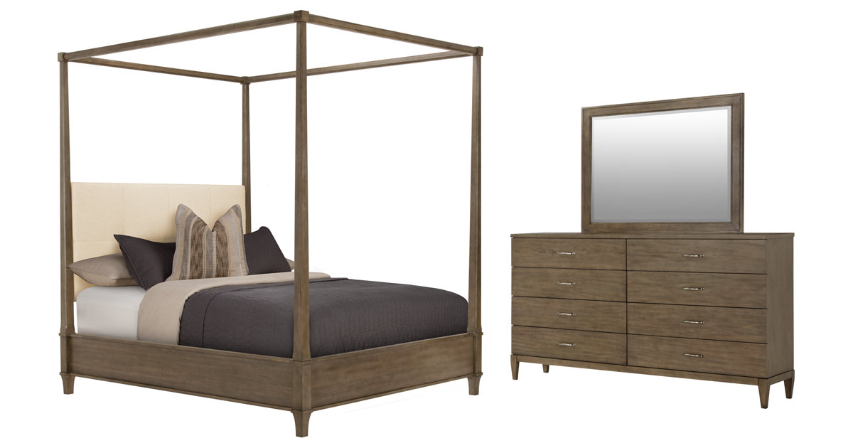 City Furniture: Preston Gray Canopy Bedroom