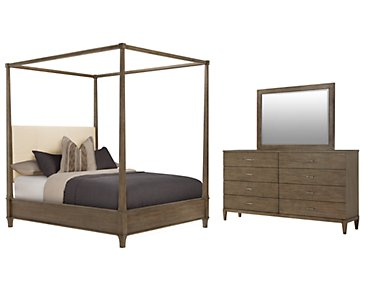 Preston Gray Canopy Bedroom