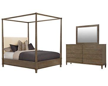 Preston Gray Canopy Bedroom