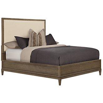 Preston Gray Upholstered Platform Bed