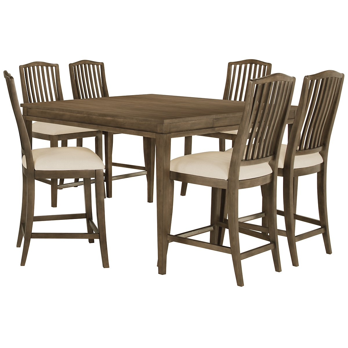 Preston Gray High Table & 4 Barstools