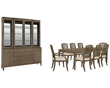 Preston Gray Rectangular Dining Room