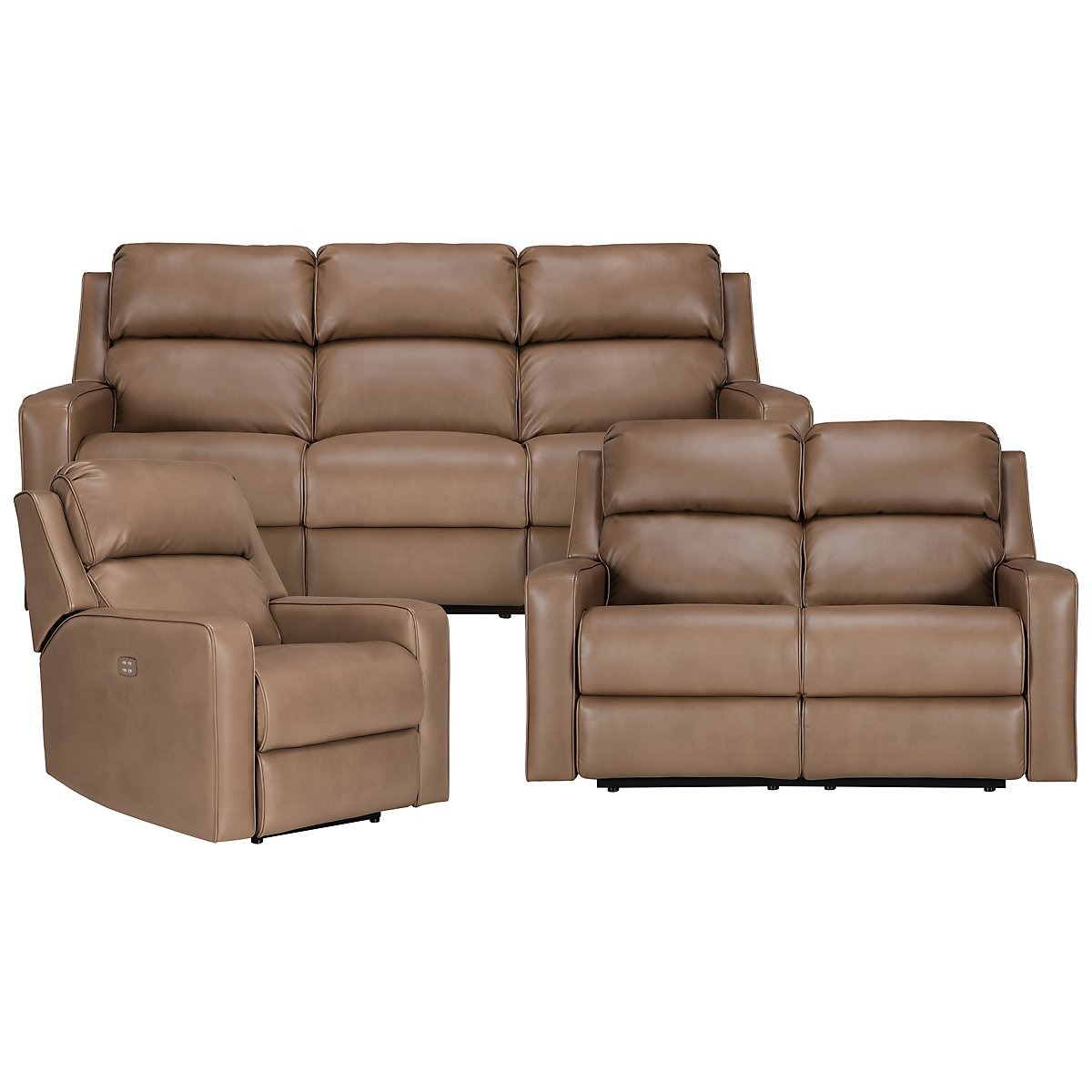 Rocco Dark Taupe Microfiber Power Reclining Living Room