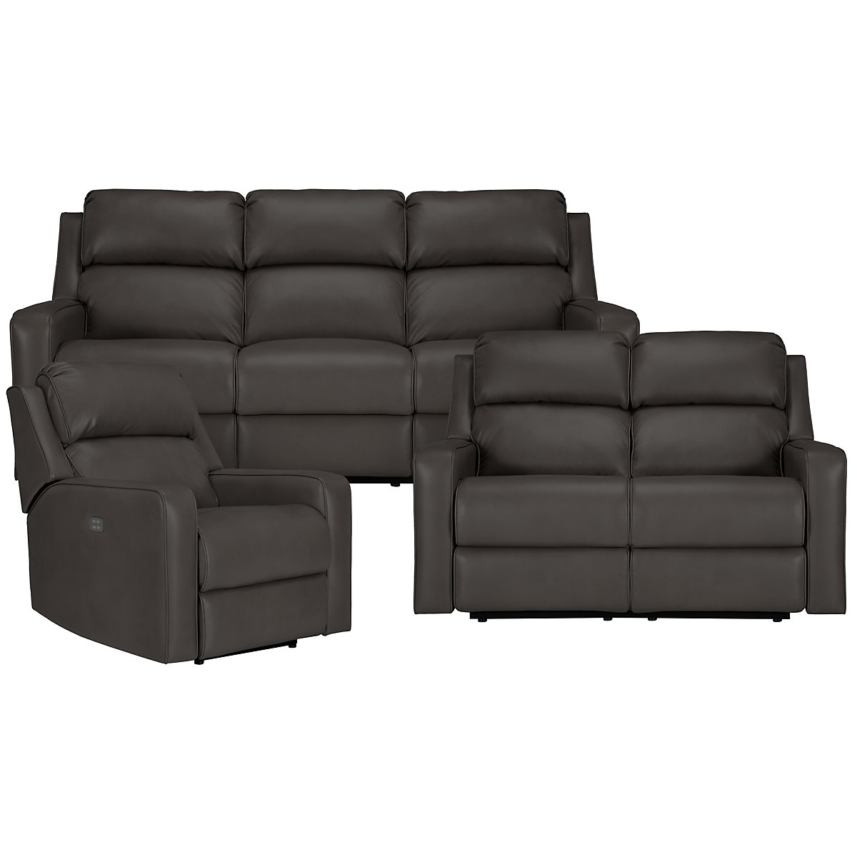 Rocco Gray Microfiber Power Reclining Living Room