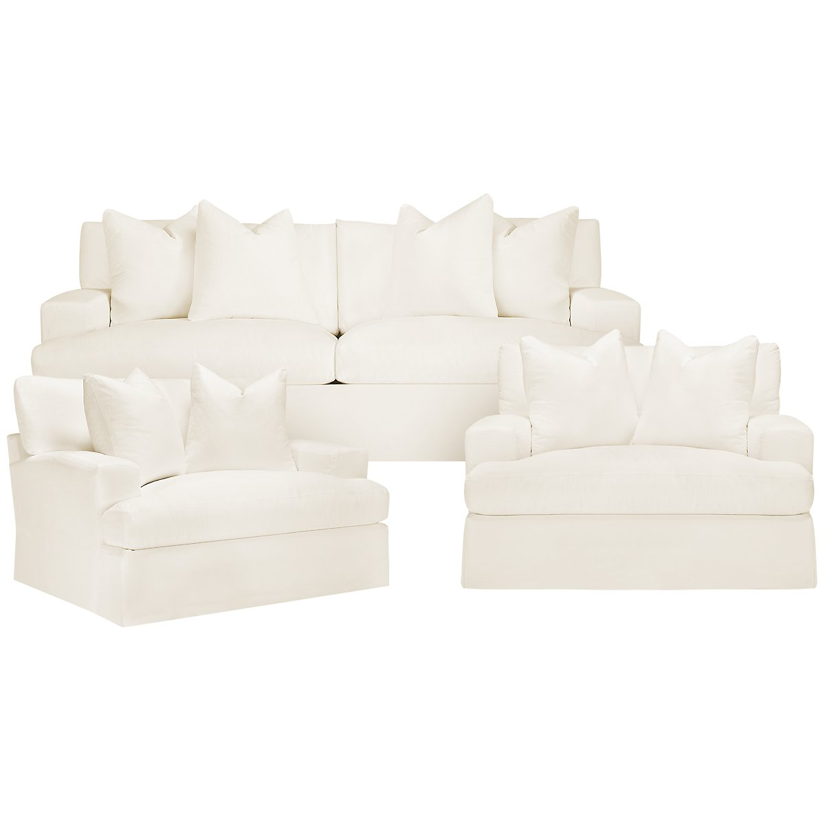 City Furniture Delilah White Fabric Sofa