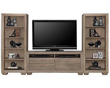 Adele2 Light Tone Open Entertainment Wall