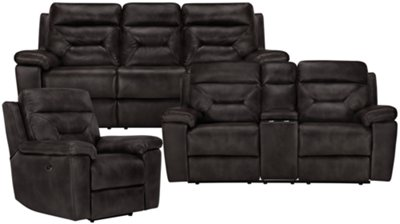 Phoenix Dark Gray Microfiber Power Reclining Console Loveseat. Phoenix Dark Gray Microfiber Power Reclining Console Loveseat  sc 1 st  City Furniture & City Furniture: Phoenix Dk Gray Microfiber Power Reclining Console ... islam-shia.org