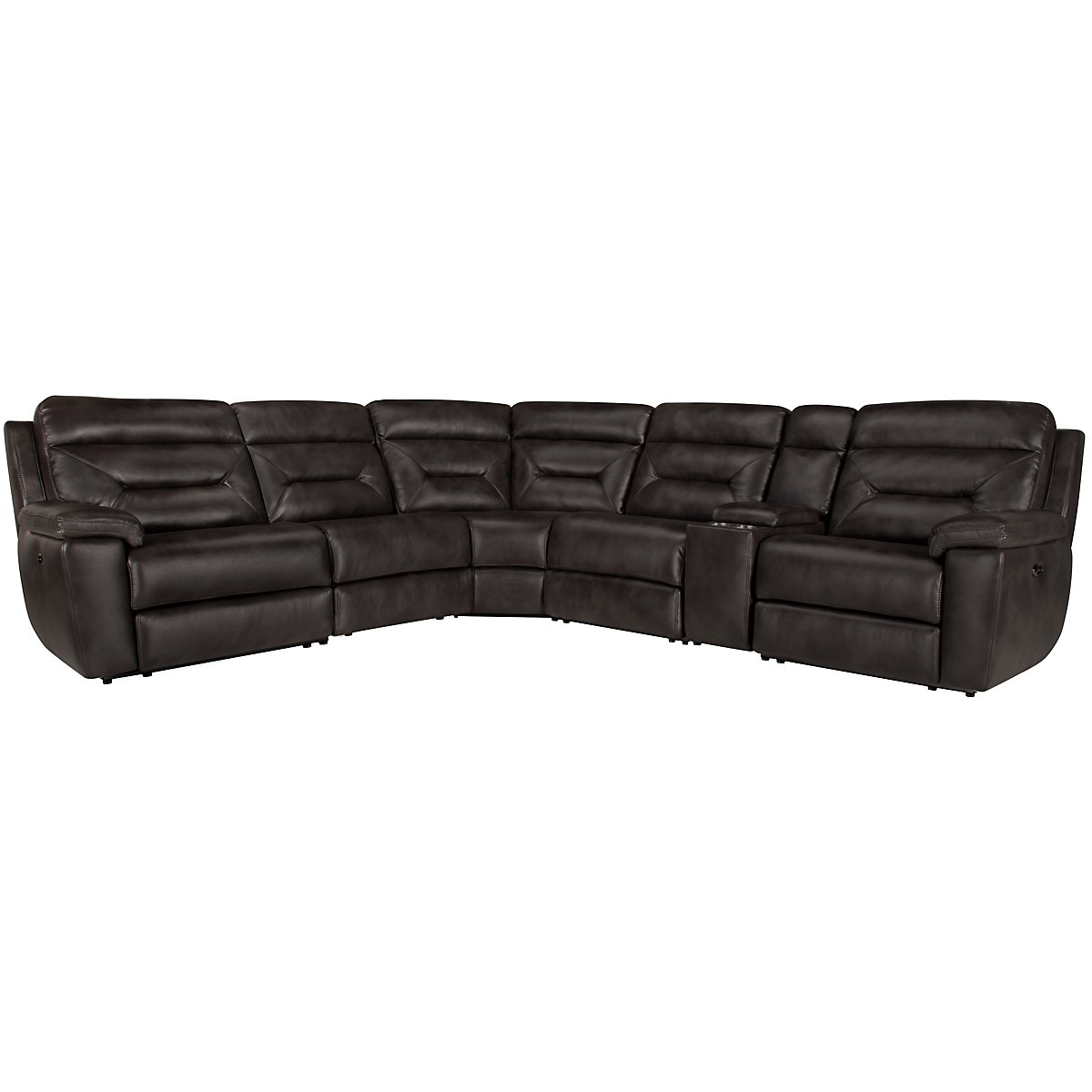 Phoenix Dark Gray Microfiber Small Two-Arm Power Reclining Sectional