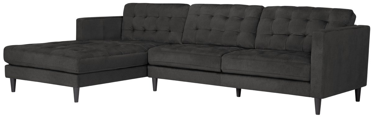 City Furniture Shae Dark Gray Microfiber Left Chaise Sectional