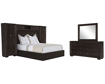 Adele2 Dark Tone Upholstered Wall Bedroom