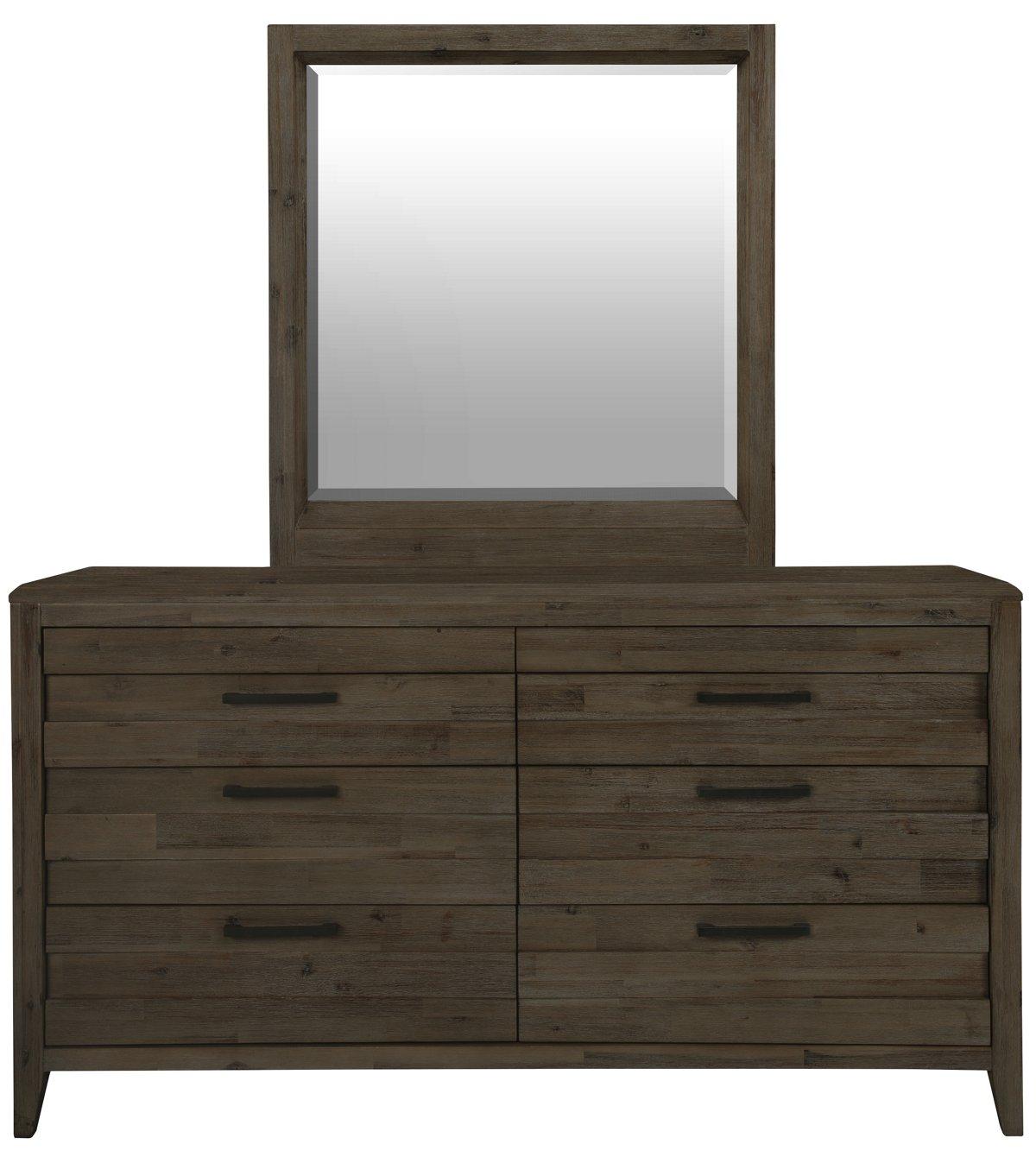 Casablanca Dark Tone Wood Dresser & Mirror
