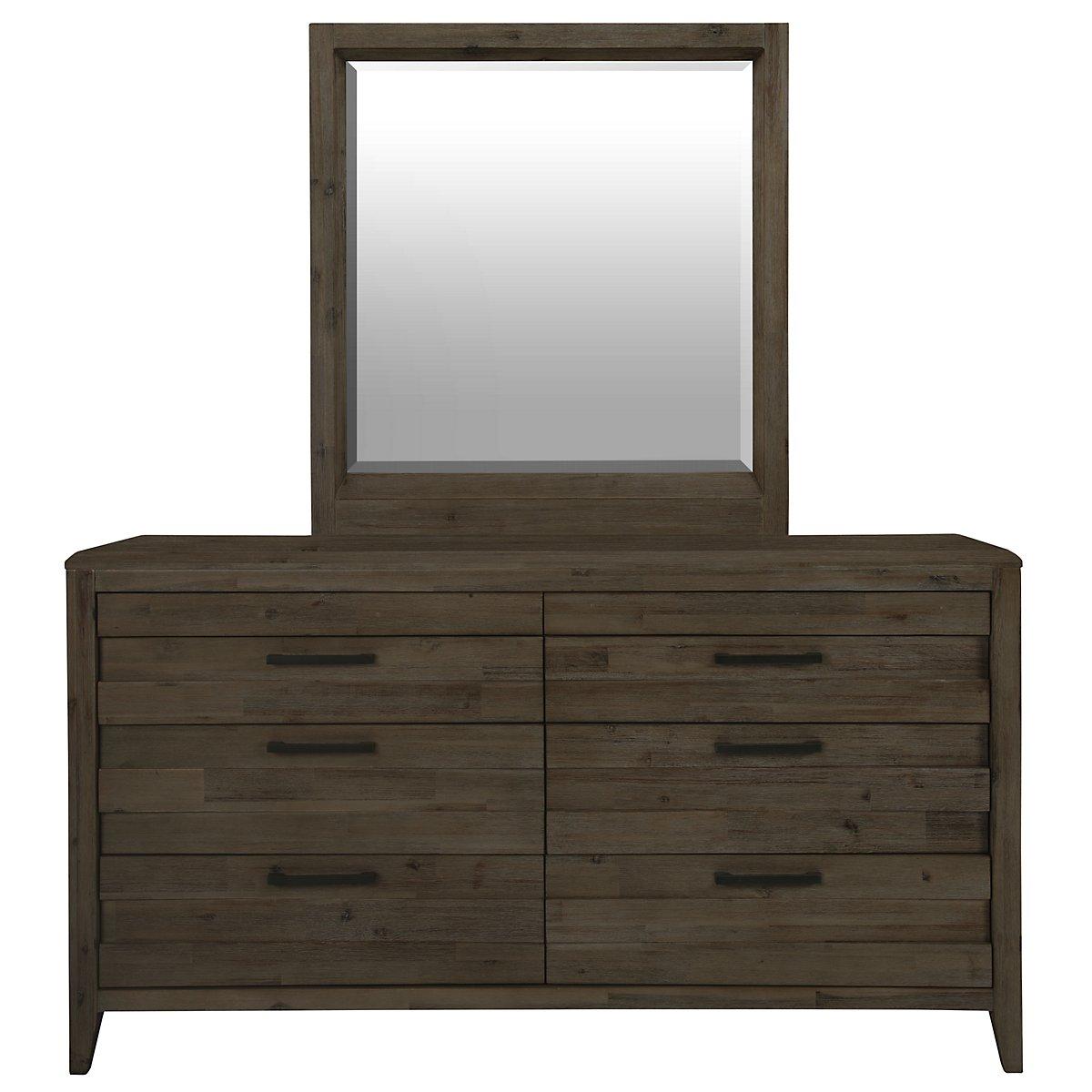 Casablanca Dark Tone Dresser & Mirror