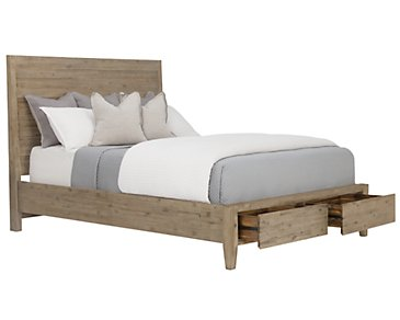 Casablanca Light Tone Panel Storage Bed