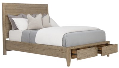 Superieur Casablanca Light Tone Panel Storage Bed