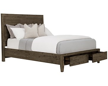 Casablanca Dark Tone Panel Storage Bed