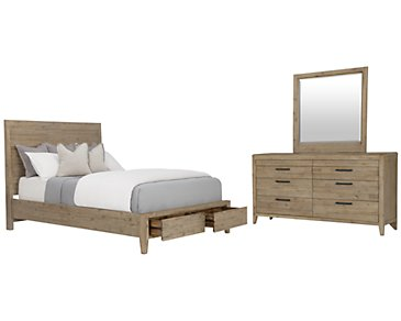 Casablanca Light Tone Panel Storage Bedroom