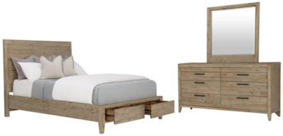 Attrayant Casablanca Light Tone Wood Panel Storage Bedroom | Bedroom   Bedroom Sets |  City Furniture