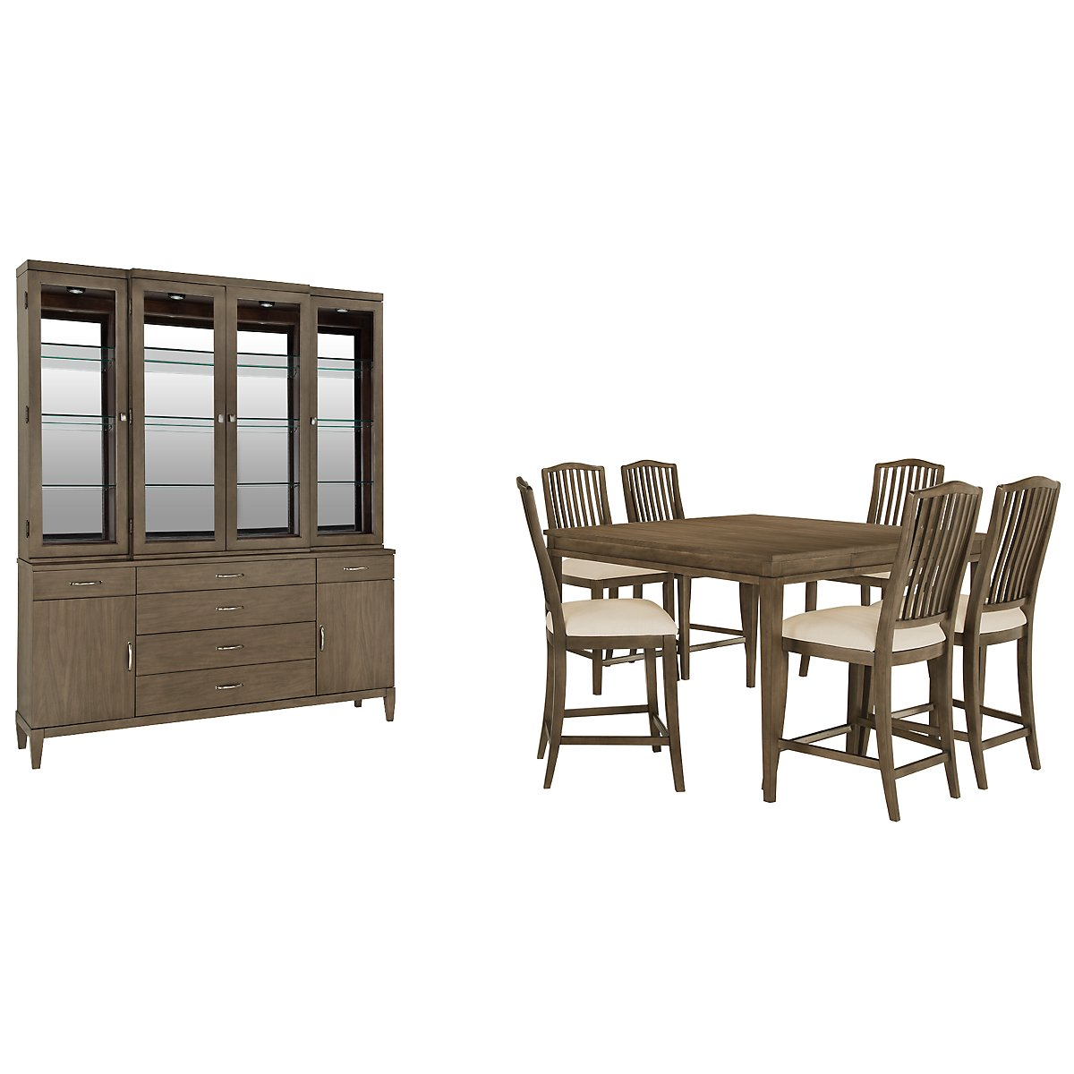 Preston Gray Rectangular High Dining Room