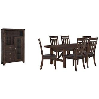 Kona Grove Dark Tone Rectangular Small Dining Room