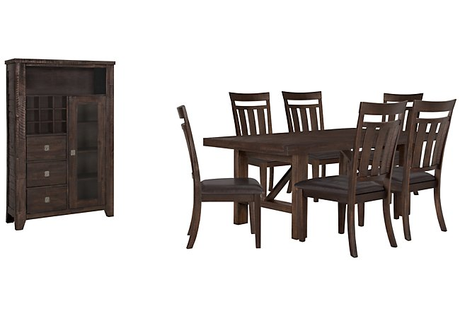 Kona Grove Dark Tone Wood Small Dining Room