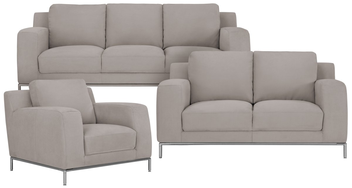 Gray Sofa With Nailhead Trim Left Facing Sectional Sofa