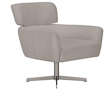 Wynn Light Gray Microfiber Swivel Accent Chair