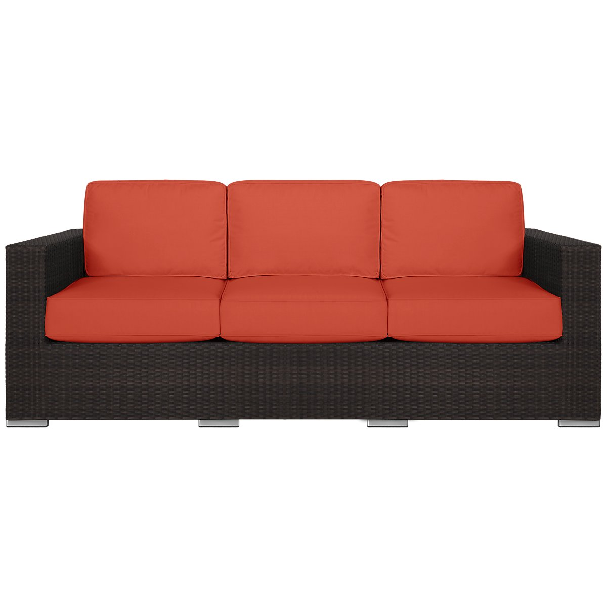 City furniture fina orange sofa for Orange sofa