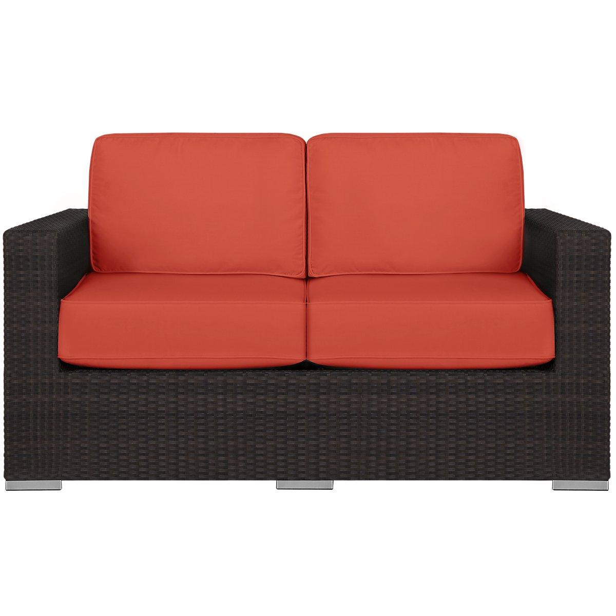 City Furniture Fina Orange Loveseat