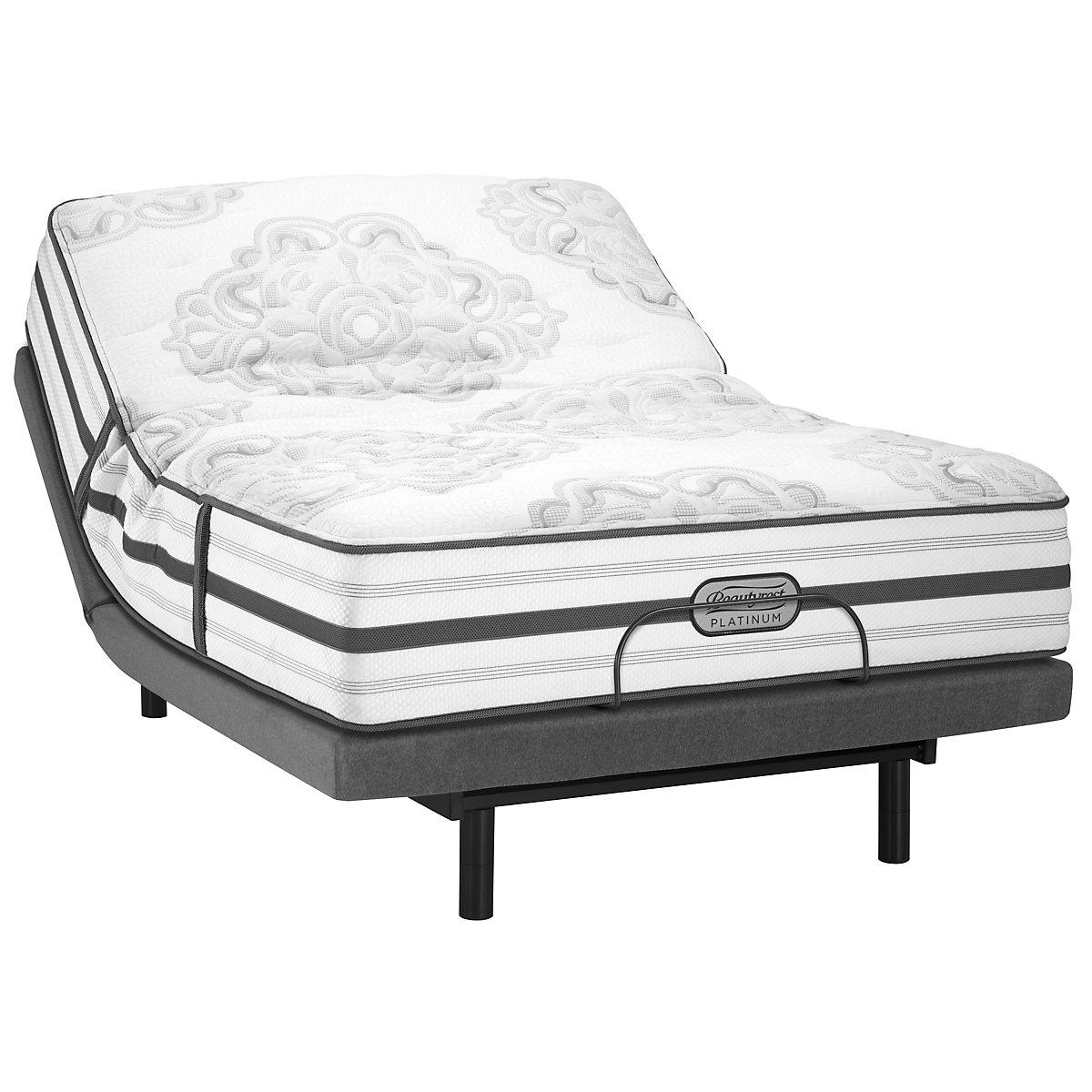 Beautyrest Platinum Brittany Plush Innerspring Select Adjustable Mattress Set