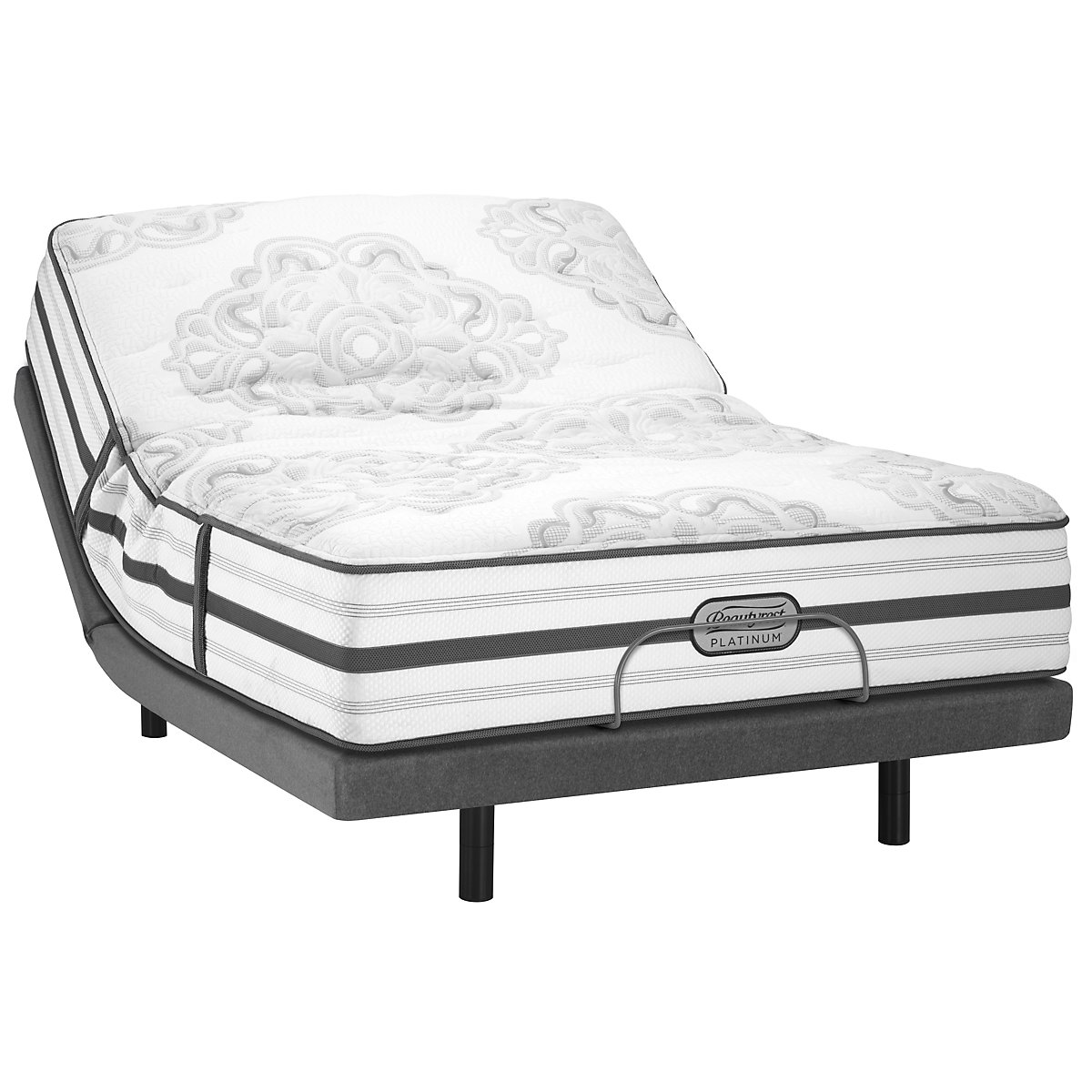 Beautyrest Platinum Brittany Plush Innerspring Elite Adjustable Mattress Set
