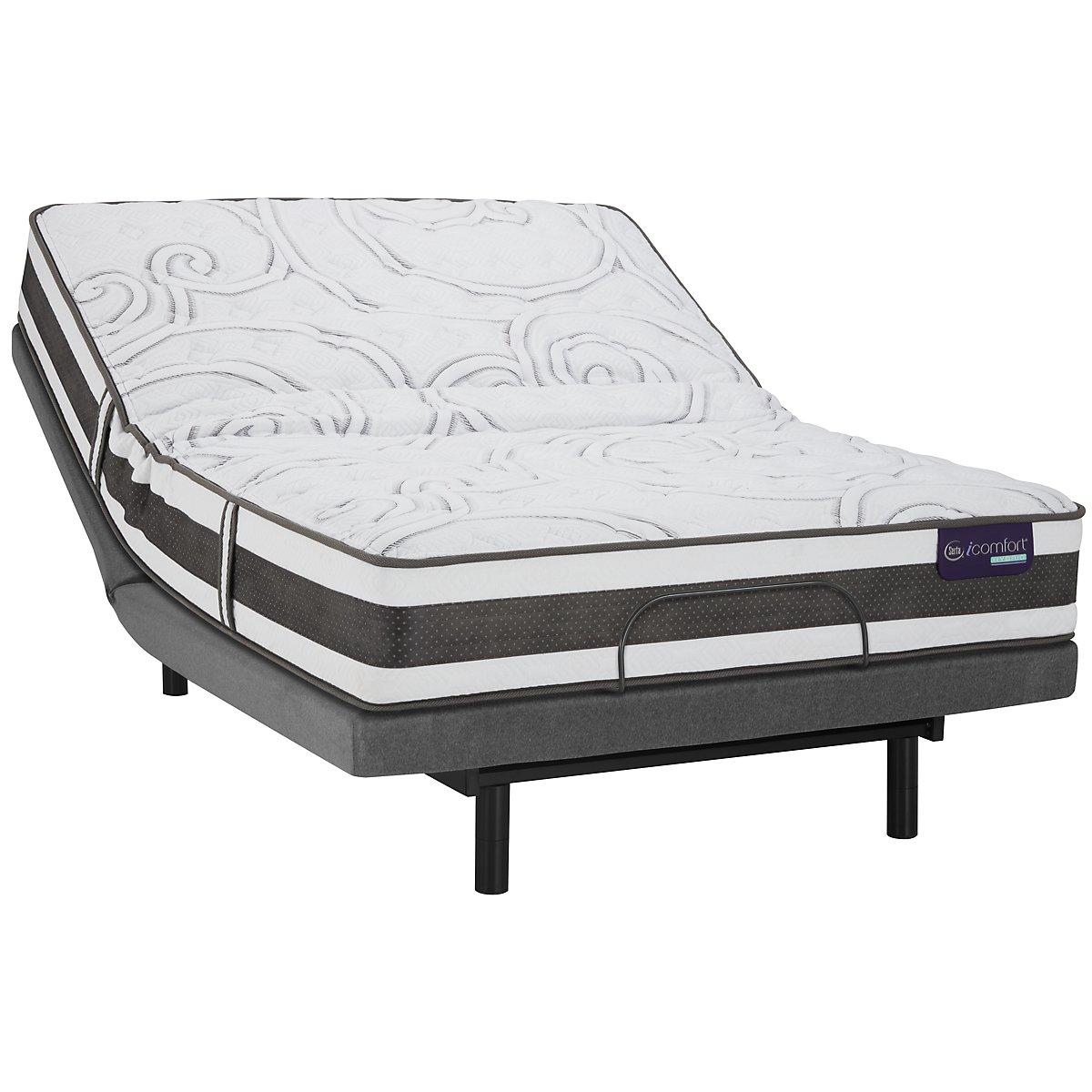 City Furniture Serta Icomfort Applause2 Firm Hybrid Deluxe Adjustable Mattress Set
