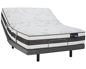 Serta iComfort Recognition Plush Hybrid Elite Adjustable Mattress Set