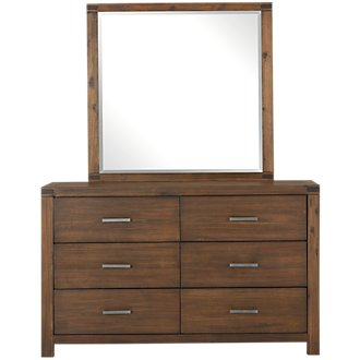 Jake Dark Tone Dresser & Mirror