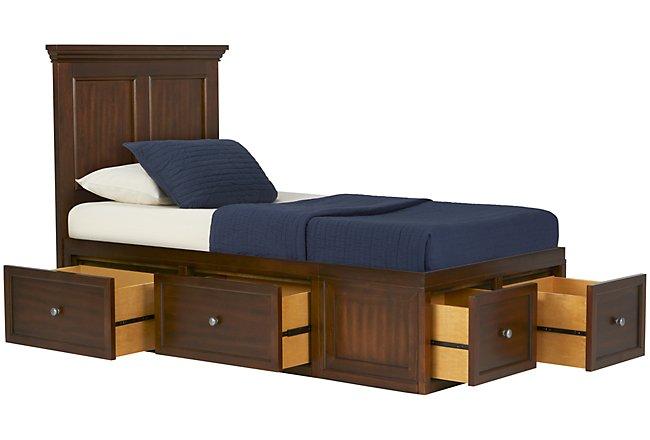 Spencer Mid Tone Platform Storage Bed