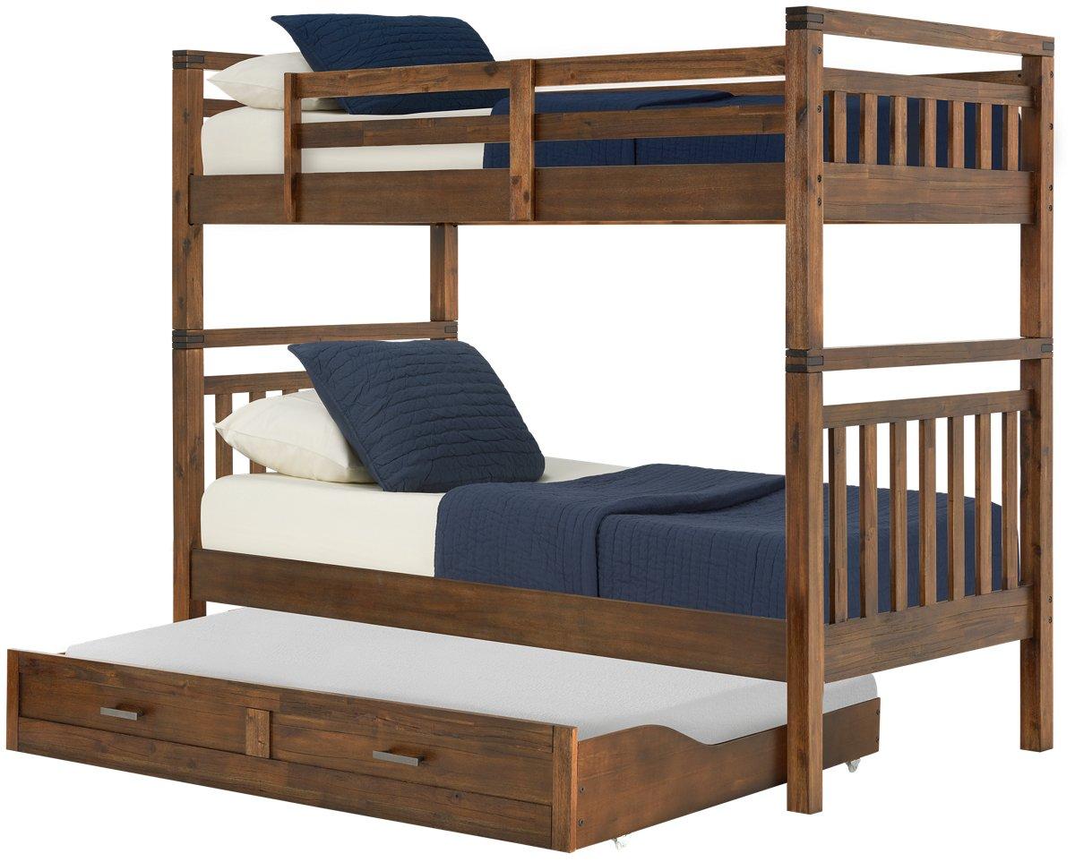 Jake Dark Tone Trundle Bunk Bed
