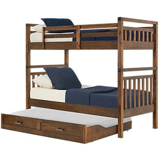 Jake Dark Tone Trundle Bunk Bed