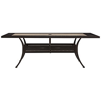 "Primera Stone 84"" Rectangular Table"