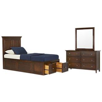 Spencer Mid Tone Platform Storage Bedroom