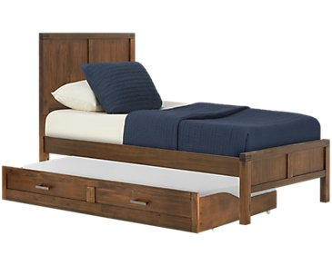 Jake Dark Tone Panel Trundle Bed