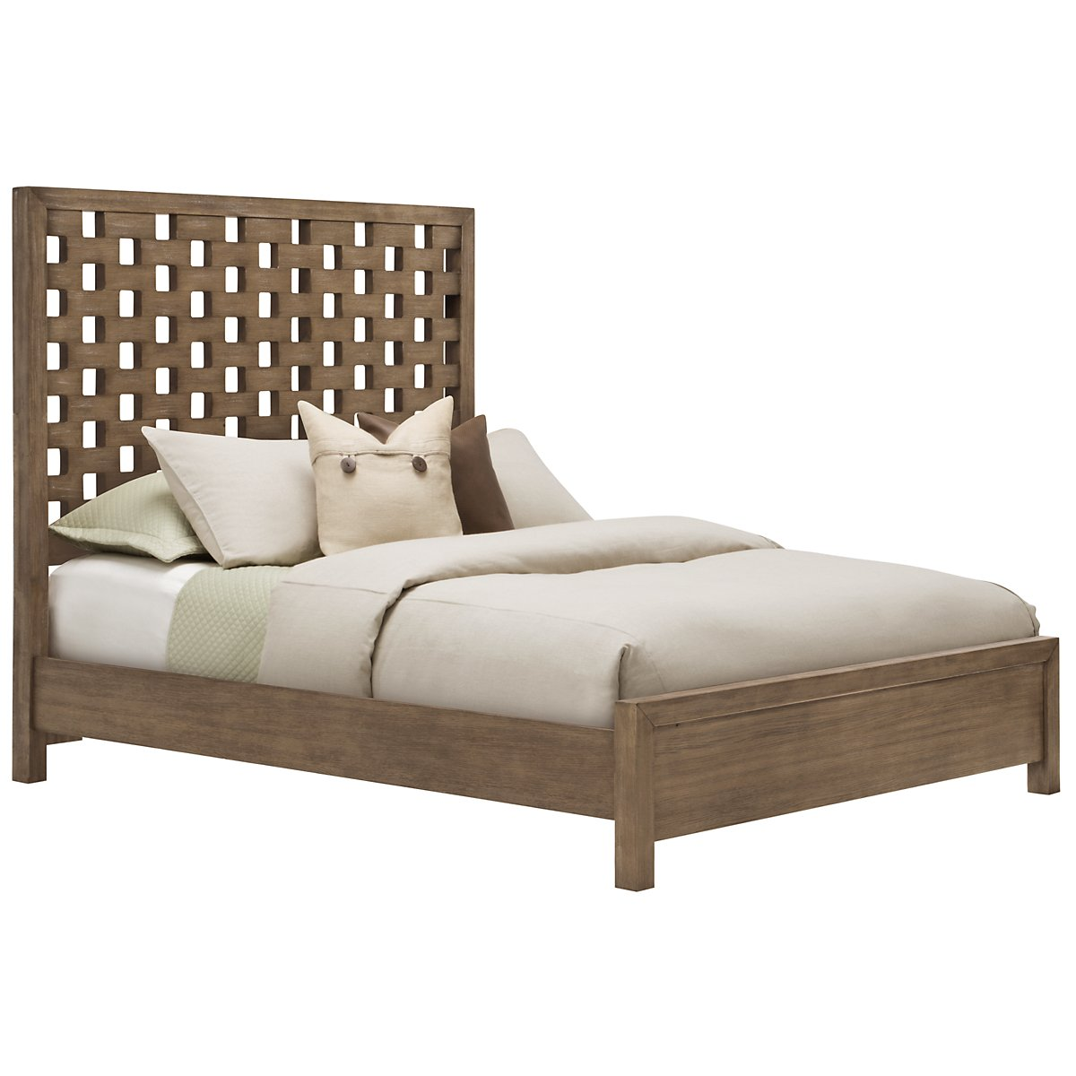 Mirabelle Light Tone Panel Bed
