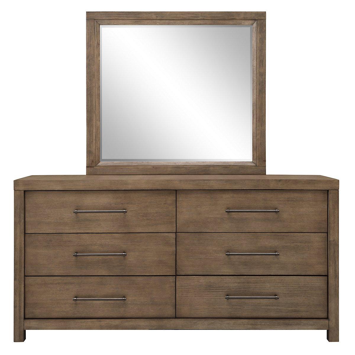 Mirabelle Light Tone Dresser & Mirror