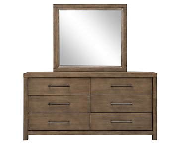 Mirabelle Light Tone Dresser & Mirror