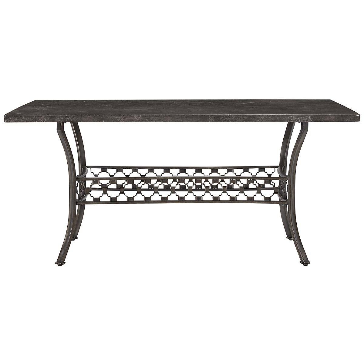 Brescello Dark Gray Marble Rectangular Table