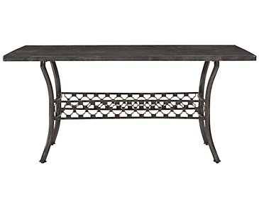 Brescello Dark Gray Marble Rectangular Table