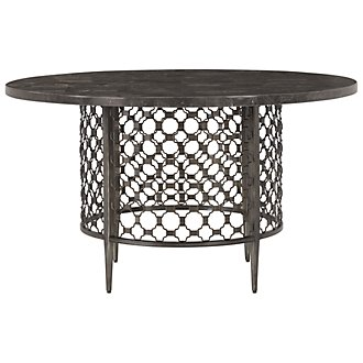 Brescello Dark Gray Marble Round Table