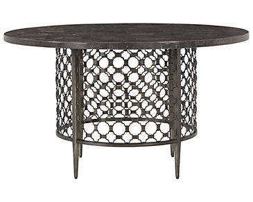 Brescello Dark Gray Marble Round Table