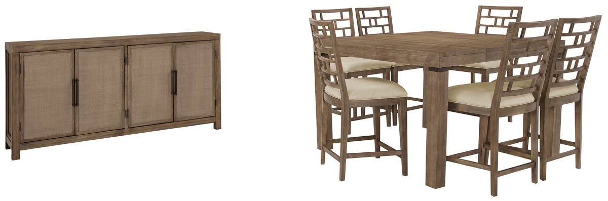 Mirabelle Light Tone Wood Dining Room