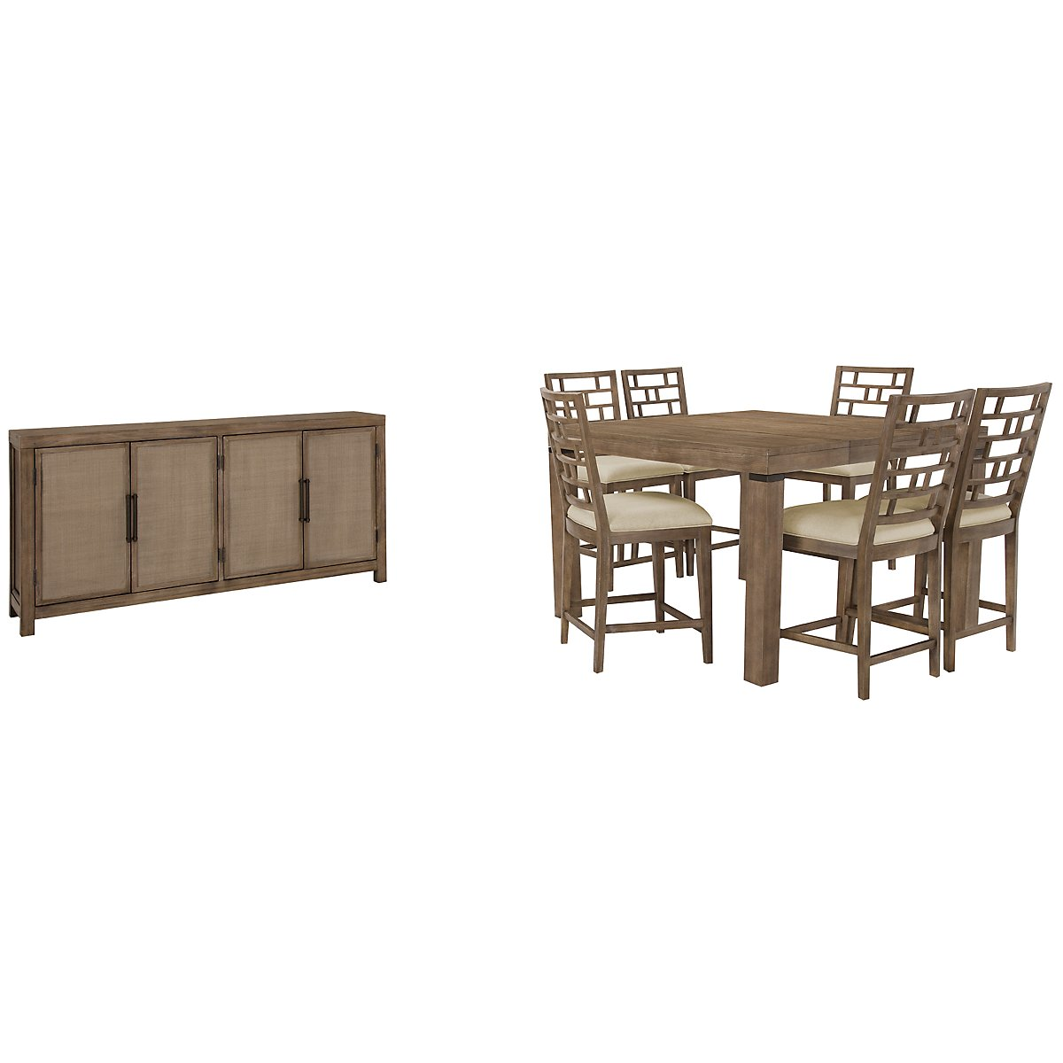 Mirabelle Light Tone High Dining Room