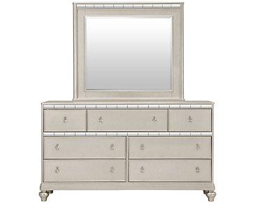 Belle Silver Dresser & Mirror